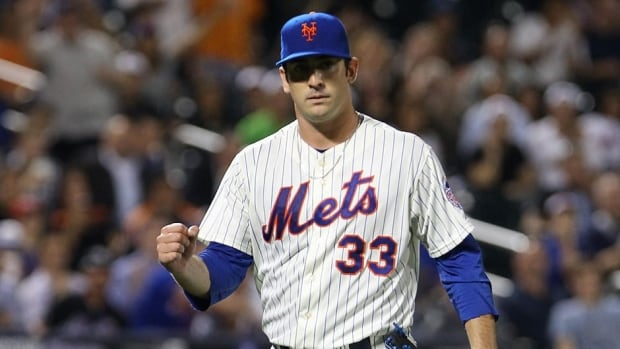 Matt Harvey during a game against the Colorado Rockies at Citi Field on August 7, 2013 in New York City.