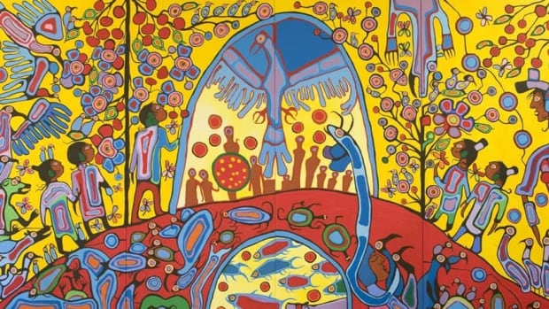 The late Norval Morrisseau was known as the 'Picasso of the North.' His style is characterized by thick black outlines and bright colours. Two prominent Canadians have accused an art dealer of selling them fake Morrisseau paintings.