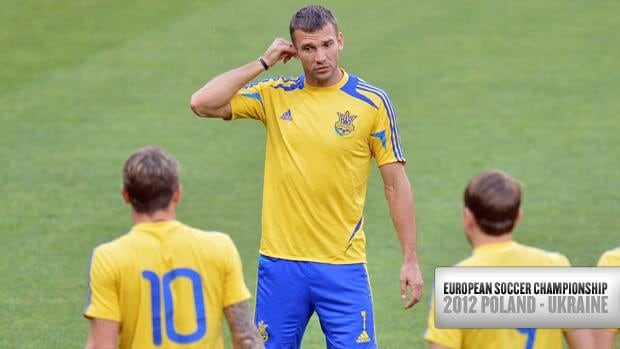 Ukrainian captain Andriy Shevchenko had sat out Sunday's training session because of the injury.