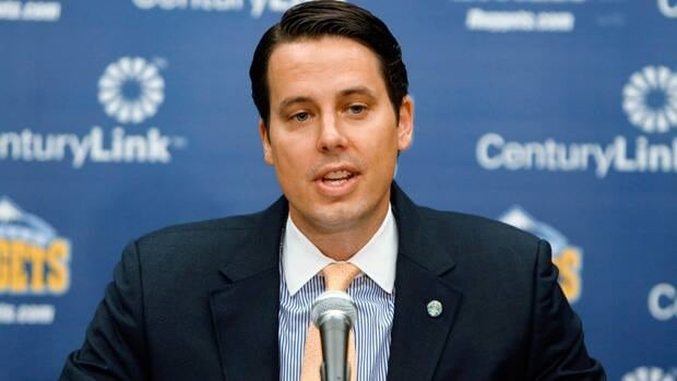 Denver Nuggets president Josh Kroenke, pictured, confirmed the hiring of Tim Connelly.