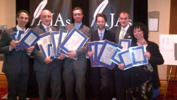 CBC journalists at the 2012 Atlantic Journalism Awards in Halifax on Saturday.