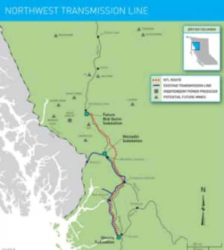 Trees slash burned for B C  mega-energy projects | CBC News