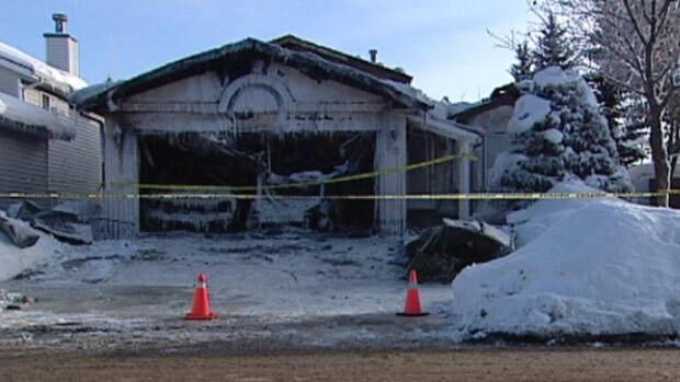 The fire, which started in the garage and spread to the roof, was caused by a space heater, according to the St. Albert fire department.