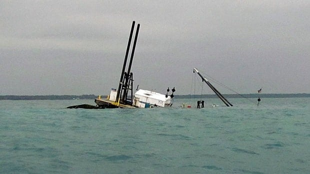 The sinking of a dredge irked Sarnia Maryor Mike Bradley.