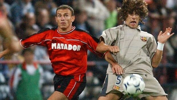Almir Gegic, seen here during a September 2003 match with Matador Puchov, finally turned himself in after more than a year on the run. He was interrogated on Thursday after being wanted for his alleged involvement in a widespread match-fixing case.