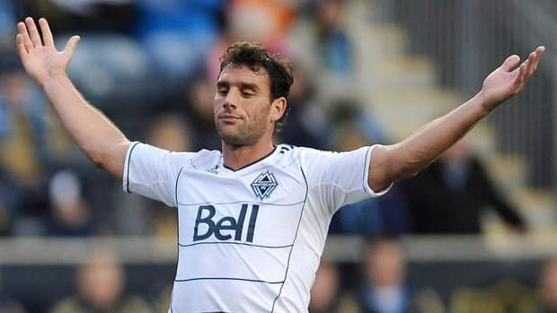 In this March 2012 file photo, Vancouver Whitecaps' Martin Bonjour is shown reacting to a call during a game against the Philadelphia Union.