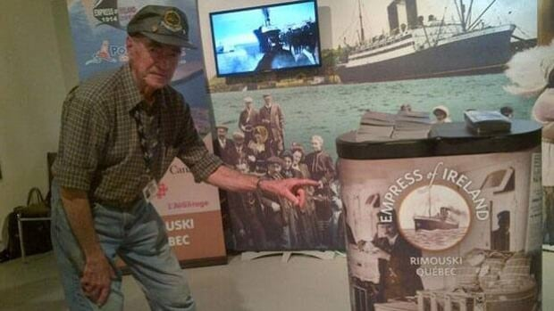 Dennis Ogresko takes in the Empress of Ireland exhibit at WDM Saskatoon, which opened Thursday and runs for one week.