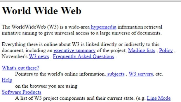 A 1992 version of the website for the W3 project is back online at http://info.cern.ch/hypertext/WWW/TheProject.html, an address that has been dormant for many years.