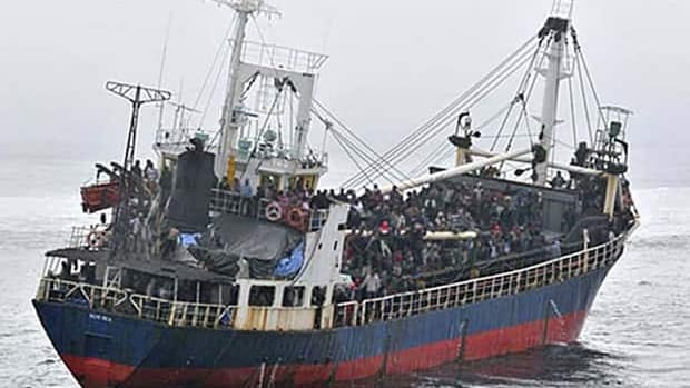 Nearly 500 Tamil migrants arrived in B.C. aboard the MV Sun Sea in August 2010.