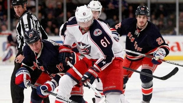 While Columbus Blue Jackets captain Rick Nash (61) is not having a great statistical season, he was the top name heading into Monday's trade deadline.