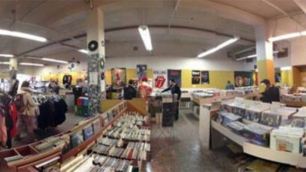 People celebrate National Record Store Day at Saskatoon's Vinyl Exchange.