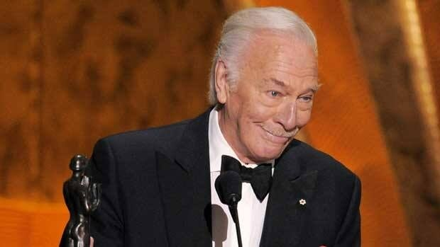 Christopher Plummer accepts the award for best supporting actor for 'Beginners' at the 18th annual Screen Actors Guild Awards in Los Angeles on Sunday.