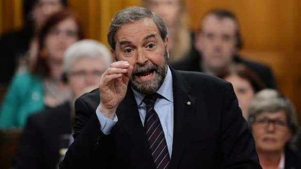NDP Leader Tom Mulcair is denying comments he made on Sunday linking the tragedy in Lac-Mégantic with government budget cuts.