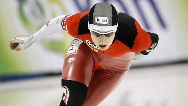Brittany Schussler of Canada, shown here on Feb. 19, 2011 while competing in the women's 1,500-metre World Cup speedskating competition.