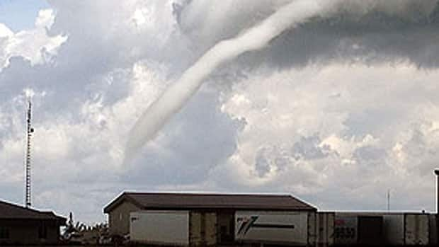 This funnel cloud was spotted near St. Adolphe, south of Winnipeg, on Wednesday afternoon.