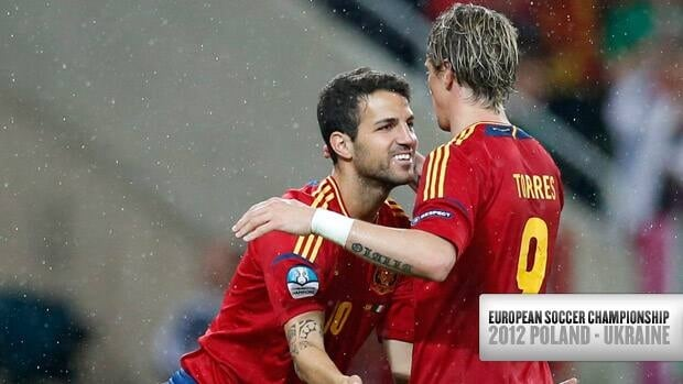Spain's offensive attack has been led by striker Fernando Torres, right, or midfielder Cesc Fabregas.