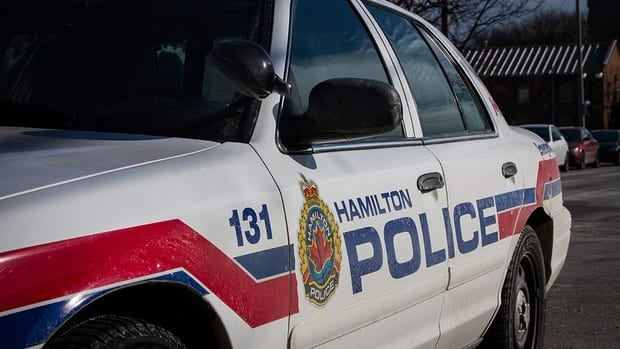 Police are searching for multiple suspects in connection with a pellet gun shooting in Hamilton's east end.
