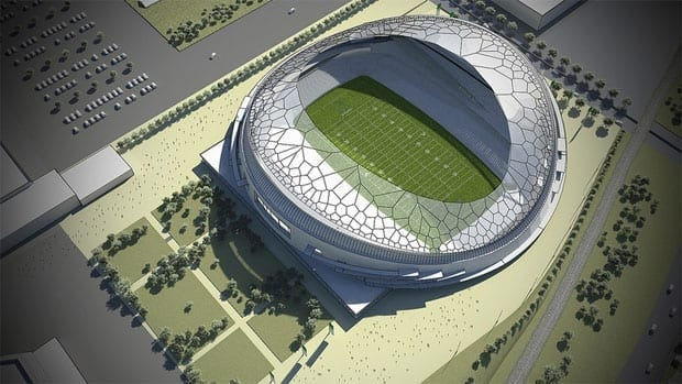 A builder has been selected for Regina's new football stadium.