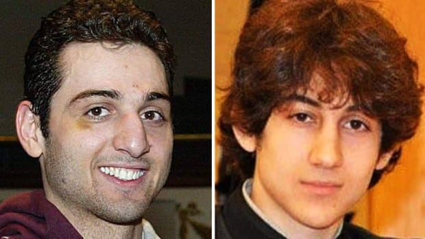 Tamerlan Tsarnaev, 26, left, and Dzhokhar Tsarnaev, 19, whom the FBI says are suspects in the Boston Marathon bombing.