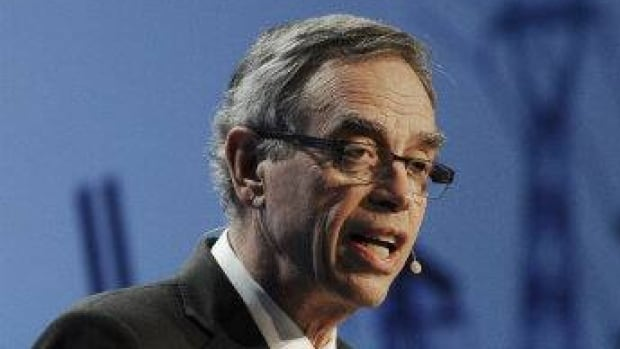 Canada's Minister of Natural Resources Joe Oliver, seen here speaking in March at the IHS CERAWeek energy conference  in Houston, was in the hot seat before the natural resources committee over comments he made last week about climate change.