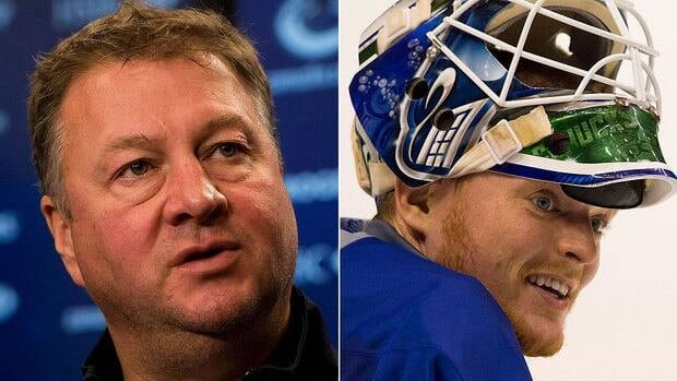 Hockey Night's Don Cherry says Canucks GM Mike Gillis, left, didn't have the guts to move goalie Cory Schneider, right, before the April 3 trade deadline, costing his team a longer playoff run.