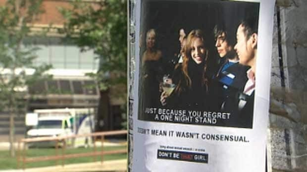 "Posters went up in Edmonton that mimic the well-known ""Don't be that guy"" anti-sexual assault campaign."