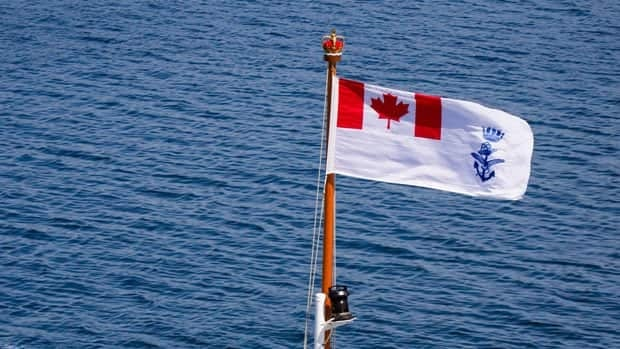 The new naval ensign.