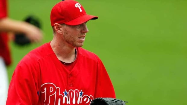 Philadelphia Phillies pitcher Roy Halladay is a two-time Cy Young Award winner.