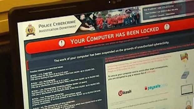 The malware often has an official-looking reference to police and cyber-crime.