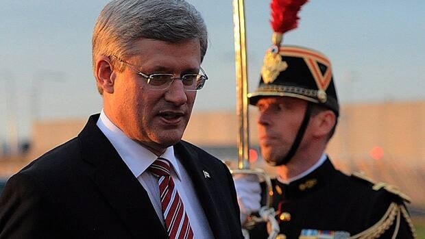 Prime Minister Stephen Harper arrives in Paris, France on Wednesday. He will meet with French President Francois Hollande on Thursday.