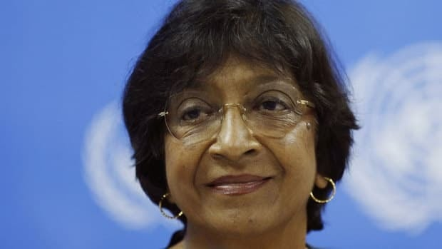 Navi Pillay, U.N. High Commissioner for Human Rights, expressed concerns about Sri Lanka's future, saying the island nation is showing signs of heading in an increasingly authoritarian direction despite the end of a civil war four years ago.