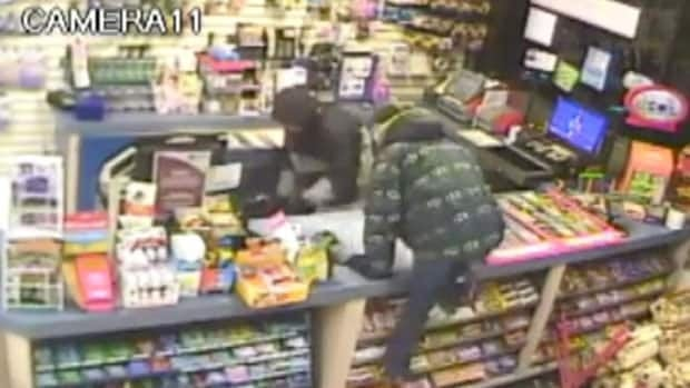 Peter Petipas says posting this video of a robbery at his store to Facebook in 2011 led to many helpful tips.