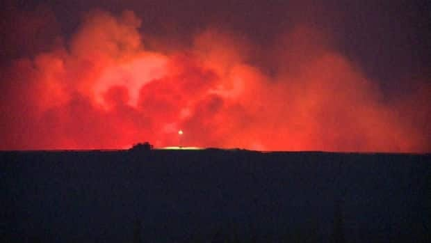 Forest fires raged outside Wabush and Labrador City in late June.