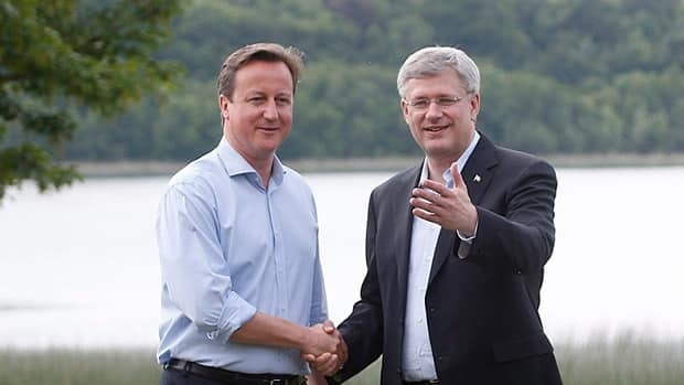 British Prime Minister David Cameron welcomed Stephen Harper to the G8 talks in Northern Ireland on Monday.  Despite suggestions the summit could yield a breakthrough in the Canada-EU trade talks, no deal has been reached amid hints of trouble at the table.