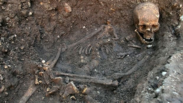The skeletal remains of King Richard III were discovered in a grave under a parking lot in Leicester, England.