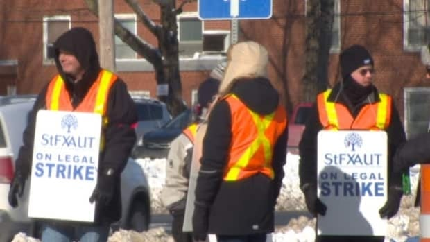 The 400 members of the St. FX Association of University Teachers have been on strike since Jan. 28.
