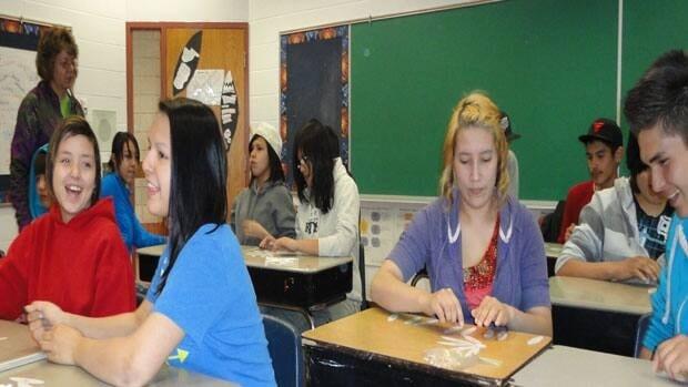 Students taking part in the University of Saskatchewan's Math Mania program.