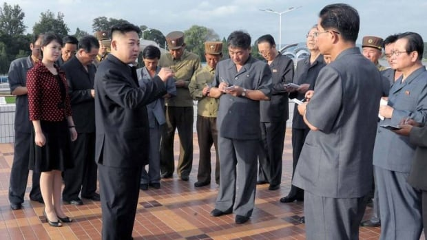 North Korean leader Kim Jong-Un, centre, visits the Rungna People's Pleasure Ground on July 25, 2012. North Korea has said it plans to conduct its third nuclear test, but no date has been announced.