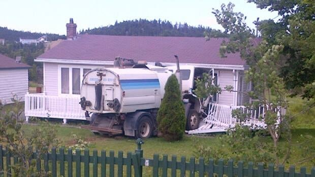A street sweeper has crashed into a home in Paradise.