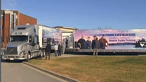 Cambrian College in Sudbury has a mobile trades training trailer that is in high demand across northern Ontario.
