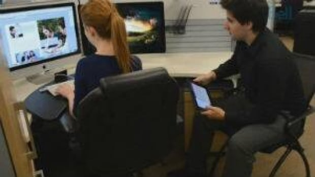 Bell promoted its Professional Management Program with images such as this, showing interns gaining from the experience.