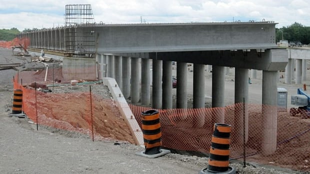 Concrete girders used in construction of the Rt. Hon. Herb Gray Parkway project will not be removed.
