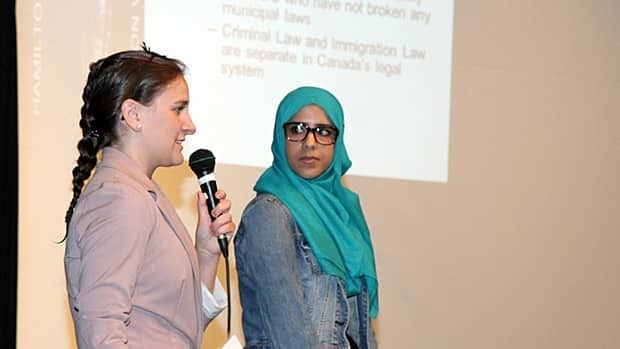 Josee Oliphant and Khaoula Bengezi with the Hamilton Community Legal Clinic gave a presentation on sanctuary cities last month. On Monday, the city's emergency and community services committee voted to look into how the city treats undocumented immigrants.