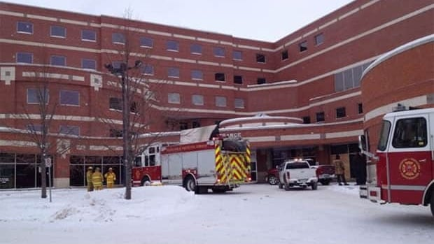 Regina fire crews responding to a fire at the city's General Hospital.