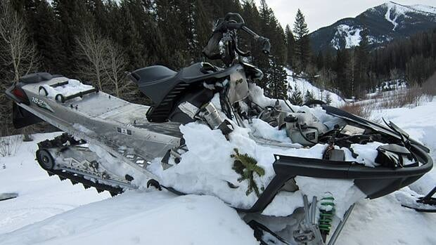 A 35-year-old Red Deer, Alta., man riding a snowmobile died when he and six others were hit by an avalanche southeast of Sparwood, B.C., on Friday.
