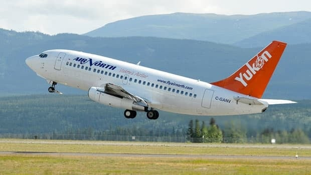 An Air North 737 takes off from the Whitehorse Airport. Flight attendants at Yukon's Air North have organized themselves into a bargaining unit with the Public Service Alliance of Canada and are looking for a new deal from their employer.