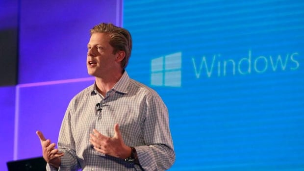 Microsoft's corporate vice president Nick Parker described new products during the Computex Taipei 2013 Wednesday, where the company unveiled its operating system upgrade 8.1.