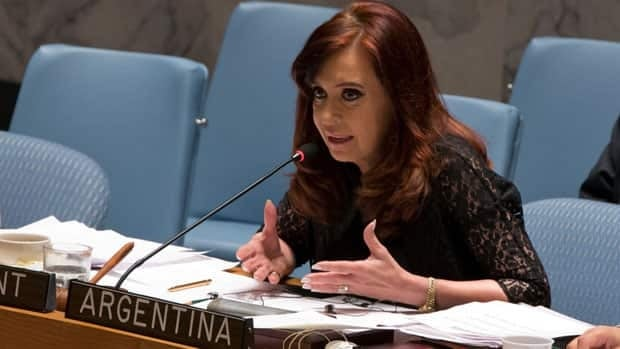 In her first address as leader of the United Nations Security Council, Argentina's President Cristina Fernández targeted on Tuesday the veto power enjoyed by the council's five permanent members. (Associated Press/Richard Drew)