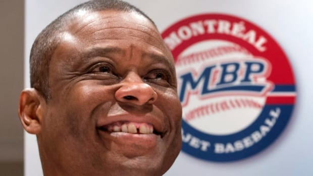 Warren Cromartie, former Montreal Expos and president of Montreal Baseball Project, updates efforts to bring back major league baseball to Montreal during a news conference Wednesday.