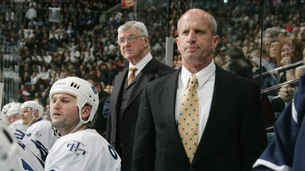 Former Toronto Maple Leafs assistant coach Keith Acton, right, is now an associate coach with the Edmonton Oilers, with whom he won a Stanley Cup as a player in 1988.